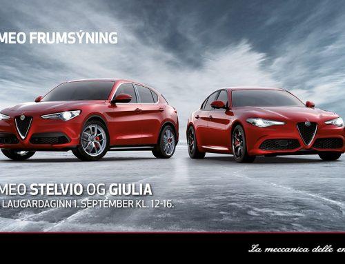 Alfa Romeo Stelvio og Giulia frumsýndar á Íslandi
