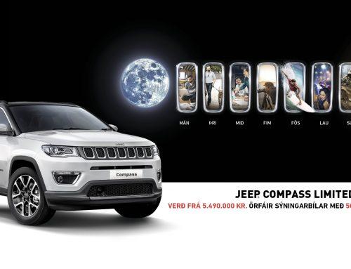 Jeep Compass Limited – 500.000 kr. afsláttur