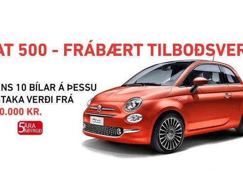 Fiat 500 – Frábært tilboðsverð!
