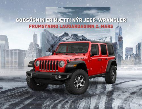 Goðsögnin Jeep Wrangler frumsýndur