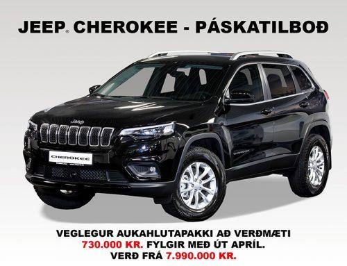 Páskatilboð á nýjum Jeep Cherokee