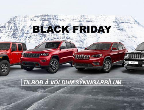 Black Friday tilboð á sýningarbílum