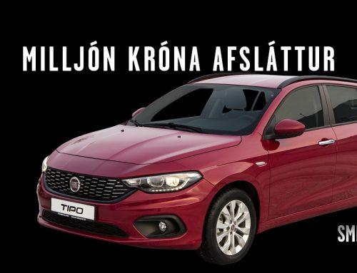 BLACK FRIDAY tilboð á Fiat Tipo – Milljón króna afsláttur!