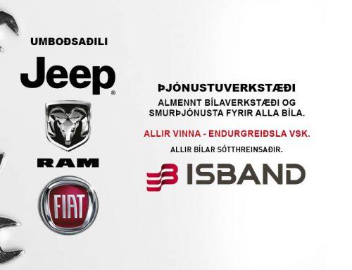 Jeep® og RAM þjónustuverkstæði